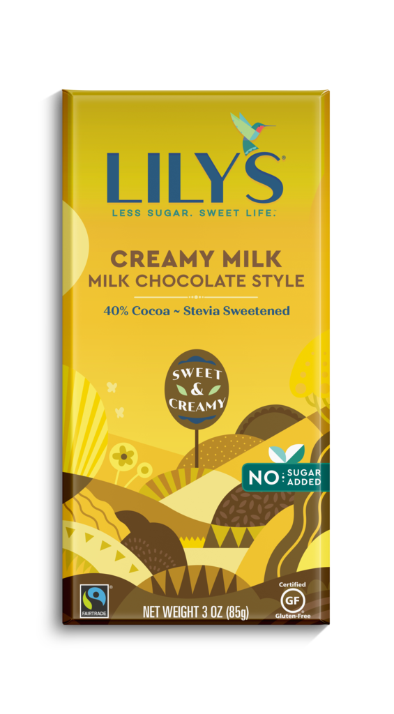 Lily's Sweets Creamy Milk Milk Chocolate Style