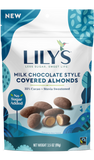 Lily's Sweets Milk Chocolate Style Covered Almonds