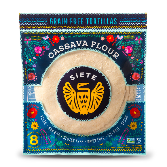 Siete Coconut Cassava Tortillas 8 PC