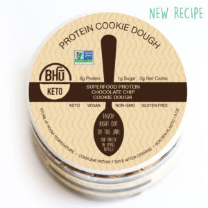 BHU Fit Super Food Chocolate Chip Protein Cookie Dough in a Jar