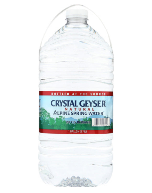 Crystal Geyser Alpine Spring Water 1 Gallon 6 Pack