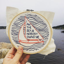 I am the sea - complete embroidery kit
