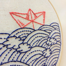 hope floats my boat - basic embroidery kit