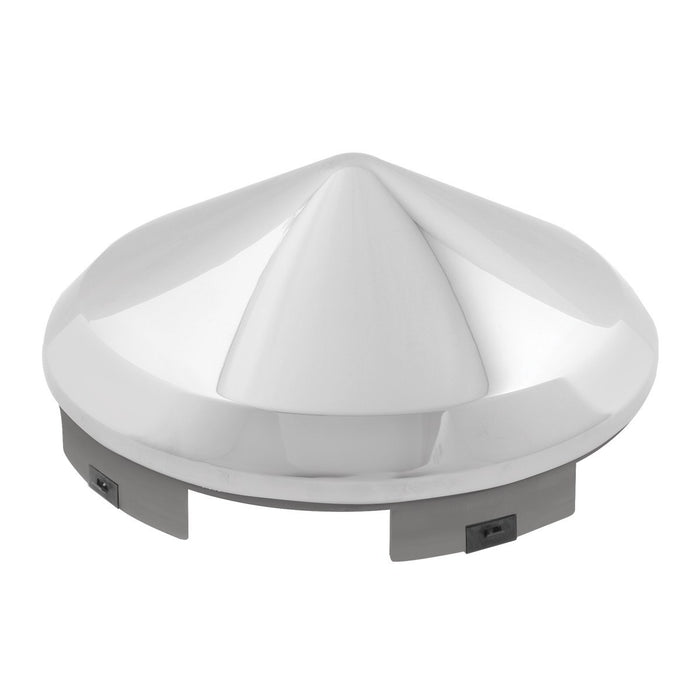 Universal Chrome Front Hub Cap In Cone Shape