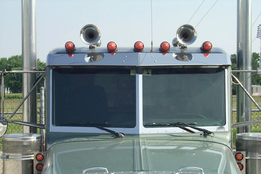1988+ Peterbilt Dimpled Windshield Trim Kit