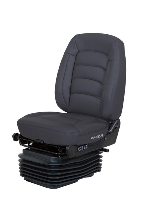 Wide Ride+Serta (Lo-Pro Air Suspension, Bellows, Mid-Back, Heating, Black Ultra-Leather)