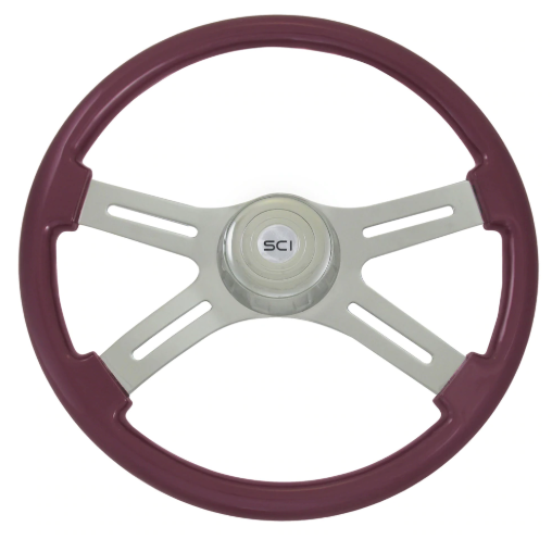 "Classic Purple 18"" Painted Wood Rim"