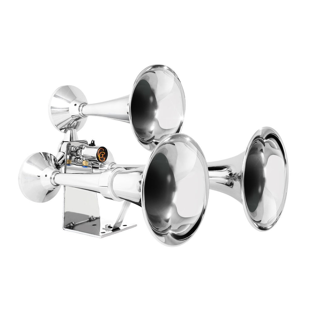 Heavy Duty Three Trumpet Brass Train Horn
