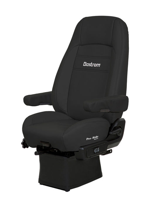 Pro Ride (Lo-Pro 910 Air Suspension, Drape, Hi-Back, Air Lumbar, Dual Armrests, Black Ultra-Leather)