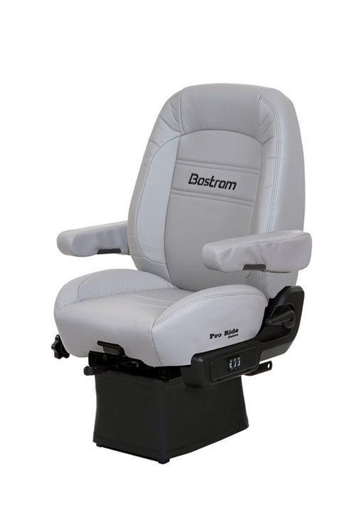Pro Ride (LO-PRO 910 AIR SUSPENSION, DRAPE, MID-BACK, AIR LUMBAR, DUAL ARMRESTS, GRAY ULTRA-LEATHER)