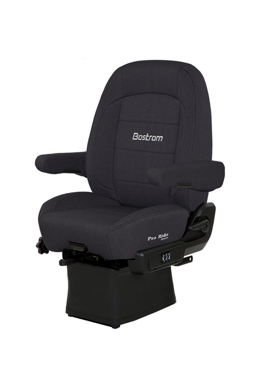 Pro Ride (Lo-Pro 910 Air Suspension, Drape, Mid-Back, Air Lumbar, Dual Armrests, Black Endura Cloth)