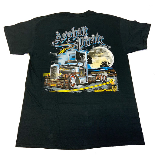 Bells-And-Whistles-Chrome-Shop-Trucks-Aftermarket-Accessories-Apparel-Big Rig Tees-Asphalt Pirate Tee-Peterbilt-Kenworth-Freightliner-Mack-Volvo-Lonestar