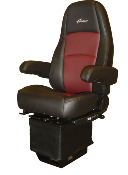 Sears Atlas II High Back Seat-  Black & Red Ultra Leather