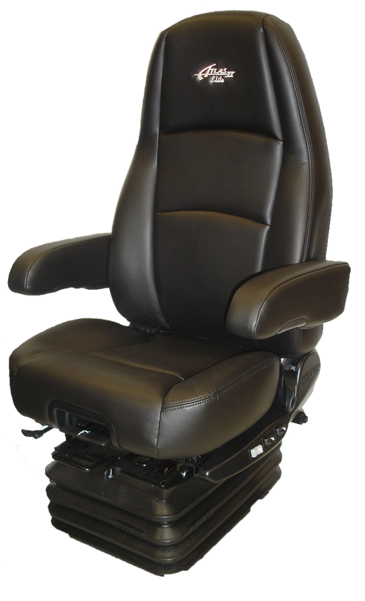 Sears Atlas II High Back DLX Seat- Black Ultra Leather