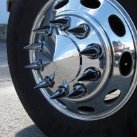 Bells-And-Whistles-Chrome-Shop-Trucks-Aftermarket-Accessories-Wheels-Trux-Accessories-Pointed-Axle-Cover-Kit-Peterbilt-Kenworth-Freightliner-Mack-Volvo-Lonestar