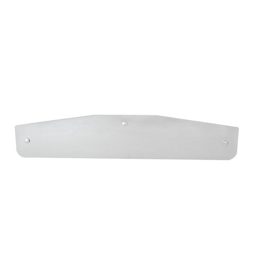 Stainless Steel Bottom Mud Flap Plate with 3 Holes (24 inch by 4 inch)