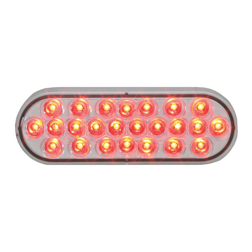 Clear to Red Oval Pearl LED (24) Diode