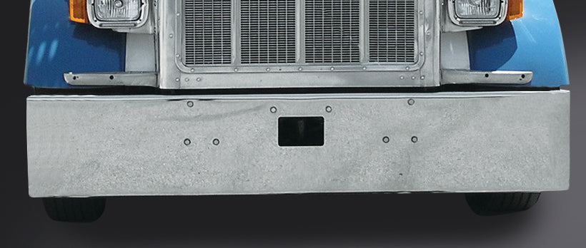 "Peterbilt 18"" Boxed End Bumper with Tow Holes"