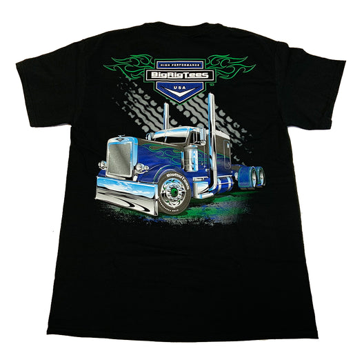 Bells-And-Whistles-Chrome-Shop-Trucks-Aftermarket-Accessories-Apparel-Big Rig Tees-Highway Heat Tee-Peterbilt-Kenworth-Freightliner-Mack-Volvo-Lonestar