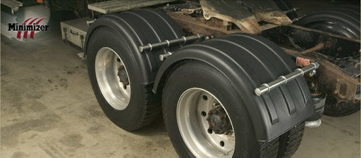 MIN2260-Twin Single Axle Fender Set-Black