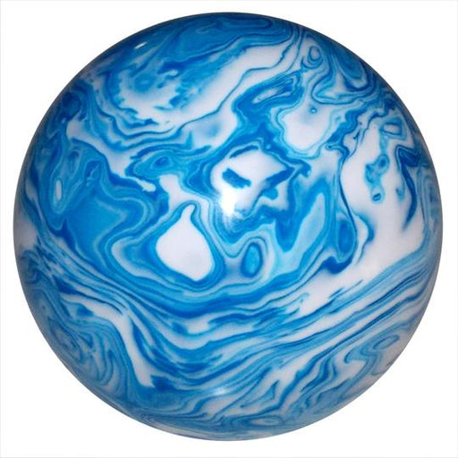 Marbled blue and white shift knob
