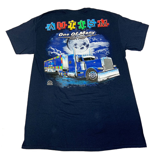 Bells-And-Whistles-Chrome-Shop-Trucks-Aftermarket-Accessories-Apparel-Big Rig Tees-One of Many Tee-Peterbilt-Kenworth-Freightliner-Mack-Volvo-Lonestar