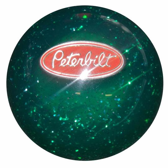 Green Peterbilt Glitter Shit Knob