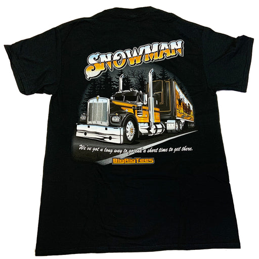 Bells-And-Whistles-Chrome-Shop-Trucks-Aftermarket-Accessories-Apparel-Big Rig Tees-Snowman Tee-Peterbilt-Kenworth-Freightliner-Mack-Volvo-Lonestar