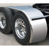 Bells-And-Whistles-Chrome-Shop-Trucks-Aftermarket-Accessories-Fenders-Trux Accessories-Rollin'Lo-Long-Stainless-Steel-Half-Fender-Rolled-Edge-Peterbilt-Kenworth-Freightliner-Mack-Volvo-Lonestar
