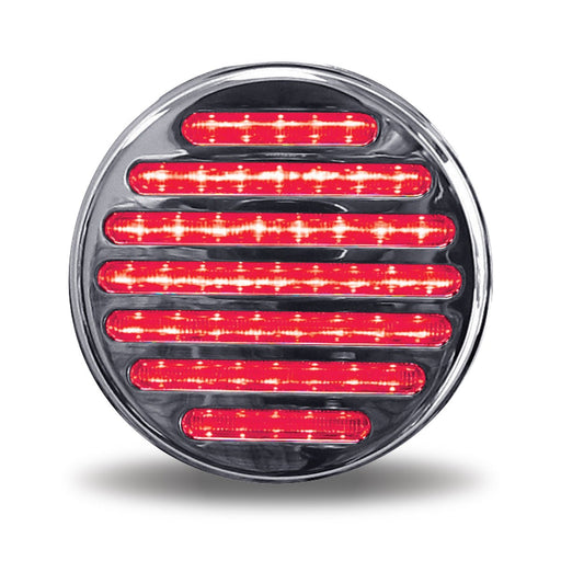 "4"" Dual Flatline Red Stop, Turn & Tail to White Back Up LED Light"