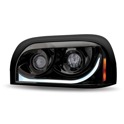 Freightliner Century LED Projector Headlight Assembly with LED Strip
