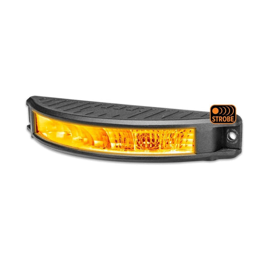 "7"" Half Moon Surface Mount LED Work Lamp with Amber Strobe"