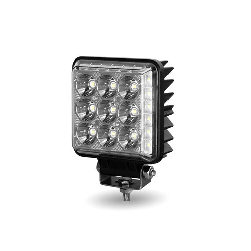 Bells-And-Whistles-Chrome-Shop-Trucks-Aftermarket-Accessories-Headlights-Trux-Accessories-4 ¼-Square-Radiant-Series-LED-Work-Lamp-Peterbilt-Kenworth-Freightliner-Mack-Volvo-Lonestar