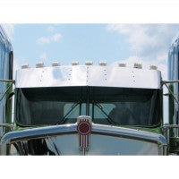 "Trux Accessories 14"" Kenworth Blank Curved Glass Sunvisor"