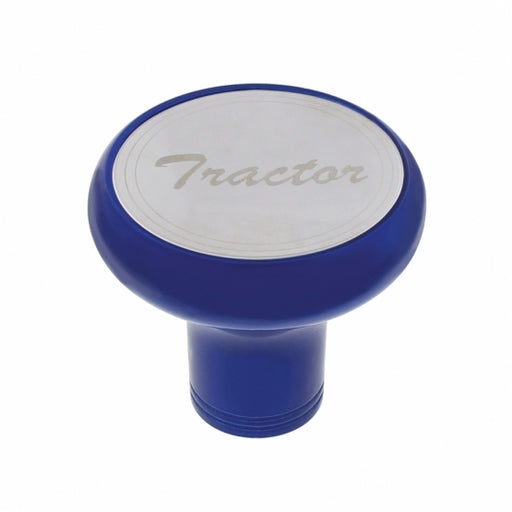 """Tractor"" Deluxe Aluminum Screw-On Air Valve Knob w/ Stainless Plaque"