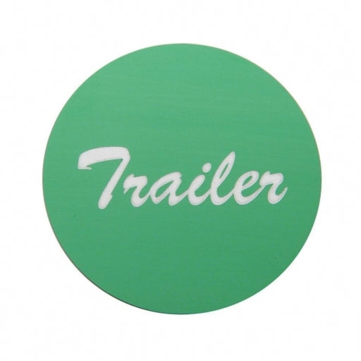 """Trailer"" Aluminum Air Valve Knob Sticker Only - Green"