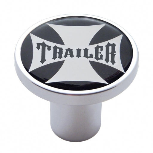 Black Maltese Cross Sticker Air Valve Knobs