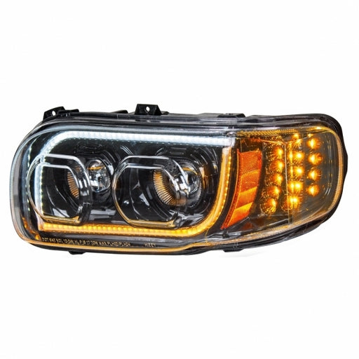 2008+ Peterbilt 388/389 High Power LED Blackout Headlight w/ LED Position Light & LED Turn Signal