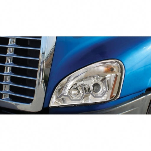 2008+ Freightliner Cascadia Chrome Projection Headlight w/ LED Position Light