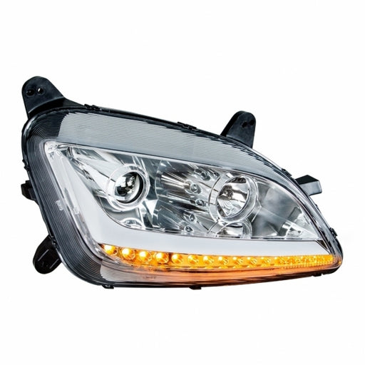 United Pacific Chrome Projection Headlight w/ LED Position Light & LED Turn Signal For 2011+ Peterbilt 579/587- Passenger