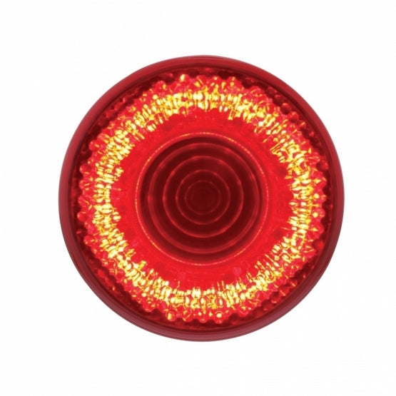 "United Pacific 9 LED 2"" Mirage Clearance/Marker Light - Red Led/Red Lens- On"
