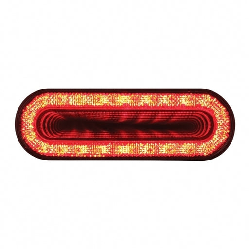 "24 LED 6"" Oval Mirage Stop, Turn & Tail Light - Red LED/Clear Lens"