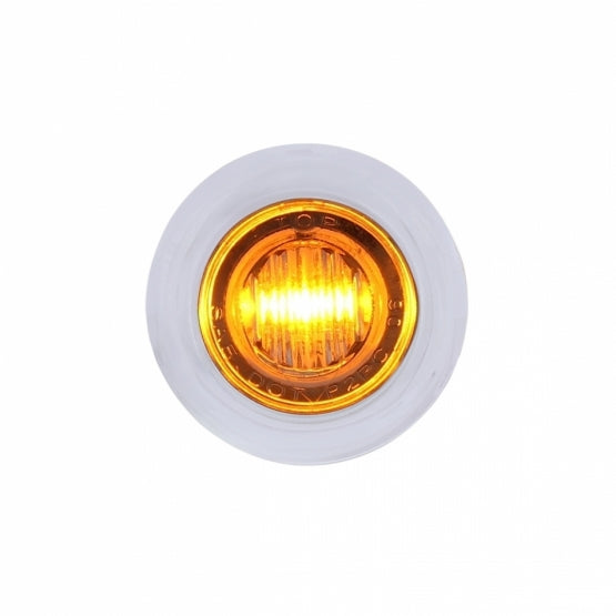 Bells-And-Whistles-Chrome-Shop-Trucks-Aftermarket-Accessories-Lighting-United Pacific-Mini Clearance Light Amber with Bezel-Peterbilt-Kenworth-Freightliner-Mack-Volvo-Lonestar