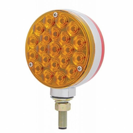 Double Face Turn Signal Light - Amber & Red LED/Amber & Red Lens