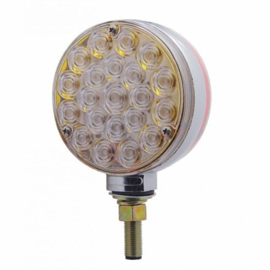 Double Face Turn Signal Light - Amber & Red LED/Clear Lens