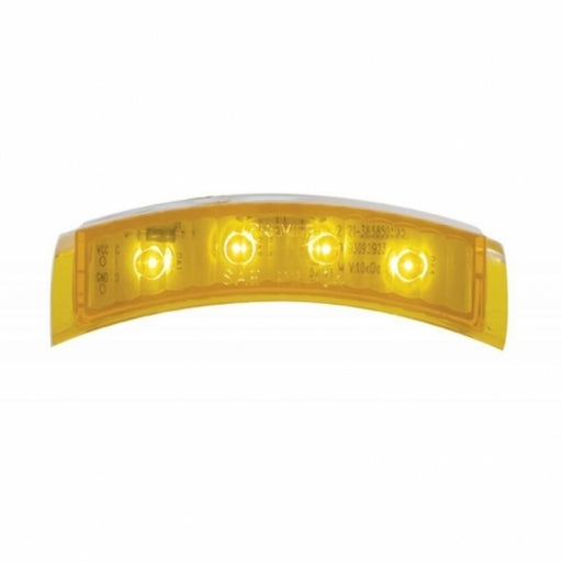 United Pacific 4 LED Headlight Turn Signal Light - Amber LED/Amber Lens