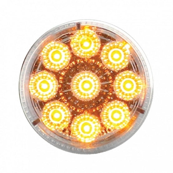 Bells-And-Whistles-Chrome-Shop-Trucks-Aftermarket-Accessories-Lighting-United Pacific-LED Reflector Marker Light Amber LED Clear Lens-Peterbilt-Kenworth-Freightliner-Mack-Volvo-Lonestar