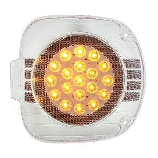 22 LED Freightliner Turn Signal Light - Amber LED/Clear Lens