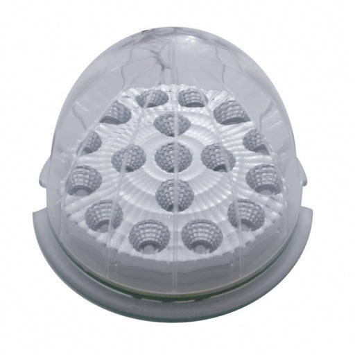 United Pacific 17 LED Watermelon Clear Reflector Cab Light - Amber LED/Clear Lens