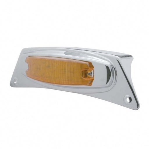 Chrome Fender Light Bracket w/ 12 LED Light - Amber LED/Amber Lens